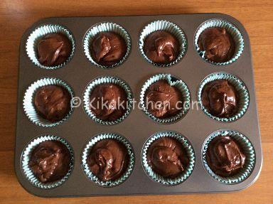 muffin al cioccolato teglia