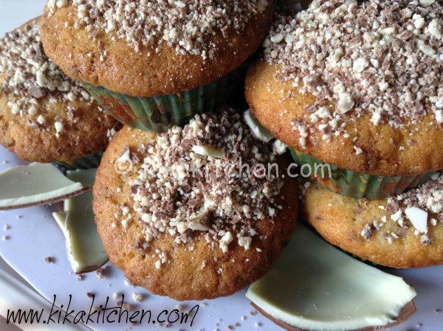 muffin con il cioccolato kinder