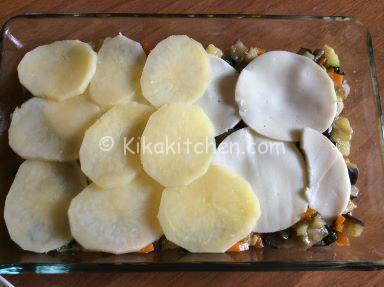 patate con verdure e formaggio