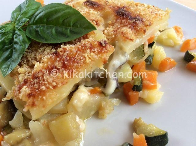 patate gratinate in forno con verdure