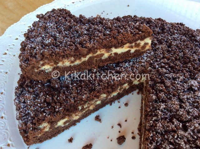 Sbriciolata al cacao con ricotta e cioccolato