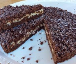 sbricolata al cacao  con ricotta e gocce di cioccolato