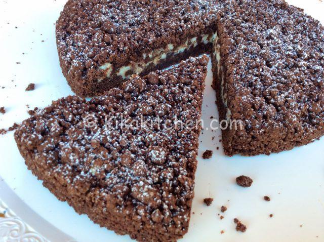 torta sbriciolata al cacao con ricotta