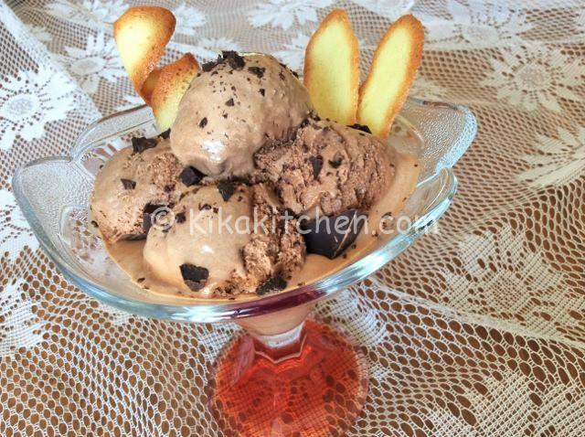 gelato al cioccolato senza uova