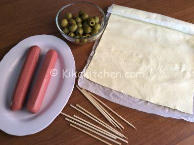 ingredienti spiedini di pasta sfoglia
