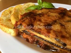 Parmigiana di melanzane grigliate con prosciutto