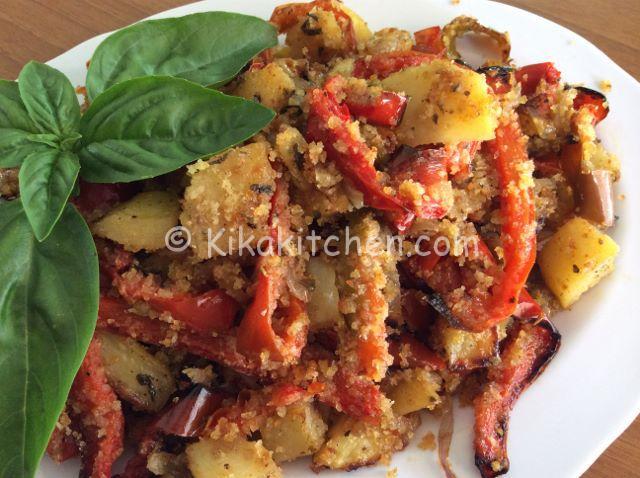 patate e peperoni gratinati ricetta