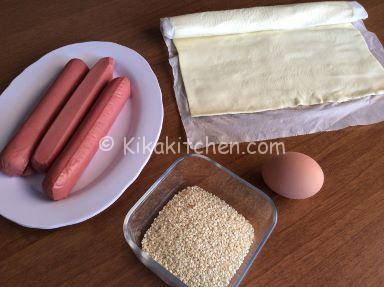 ingredienti sfogliatine con wurstel