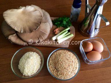 ingredienti cotolette di funghi