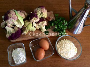 ingredienti frittelle di cavolfiore