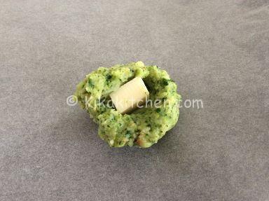 polpette di broccoli con cuore filante