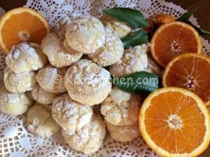 Biscotti morbidi all'arancia. Ricetta passo passo