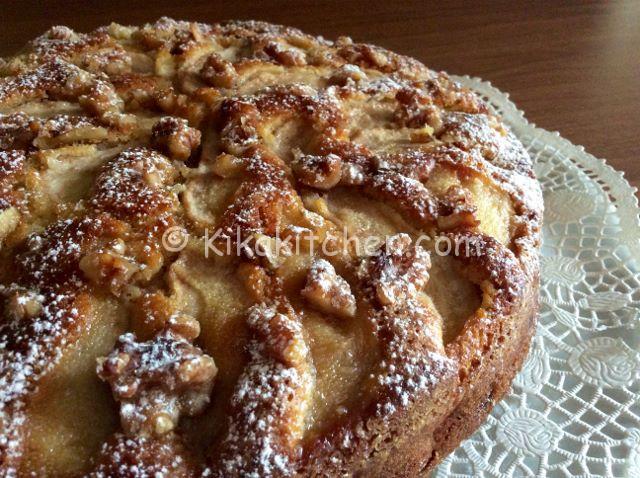 Torta Pere E Noci Alta E Soffice Ricetta Passo Passo Kikakitchen