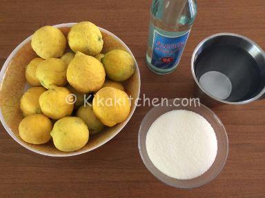 ingredienti limoncello fatto in casa