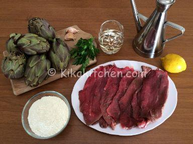 ingredienti scaloppine ai carciofi