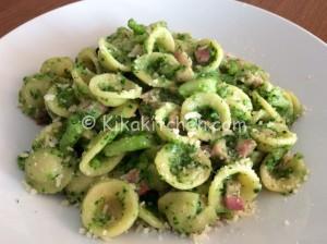 Pasta broccoli e pancetta affumicata. Ricetta passo passo