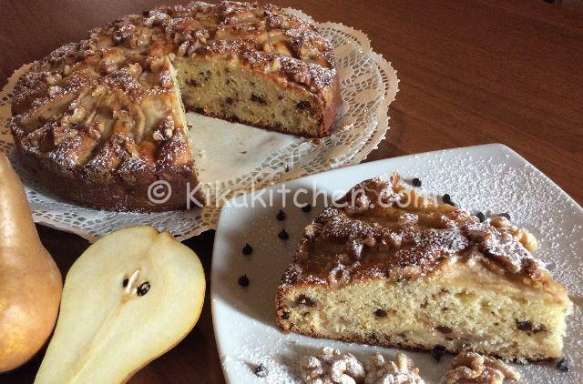 torta pere e noci fotoricetta