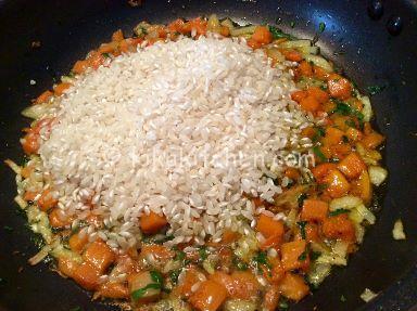 tostare risotto zucca e gamberetti