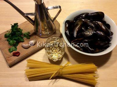 ingredienti spaghetti con le cozze