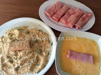 involtini di prosciutto cotto e formaggio