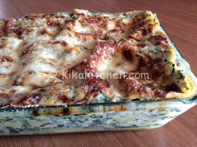 lasagne ricotta e spinaci parmigiano