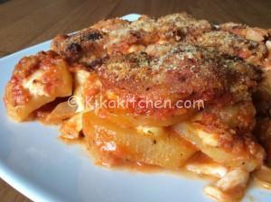 Patate alla pizzaiola con mozzarella