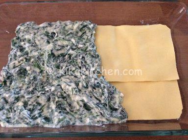 strati lasagne ricotta e spinaci