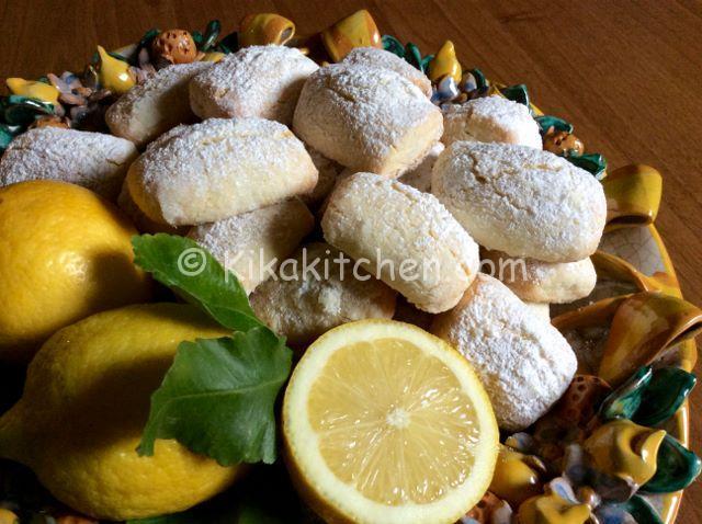 Biscotti morbidi al limone. Ricetta passo passo