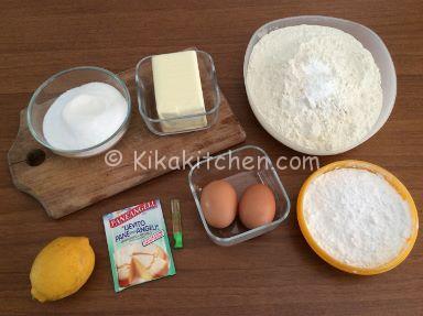 ingredienti biscotti morbidi al limone