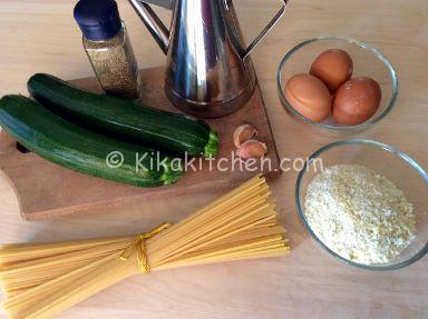 ingredienti carbonara di zucchine
