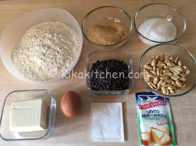 ingredienti cookies americani cioccolato e arachidi