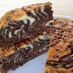 Torta zebrata (torta per la colazione). Ricetta passo passo