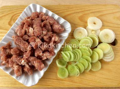 pasta con salsiccia e porri ricetta