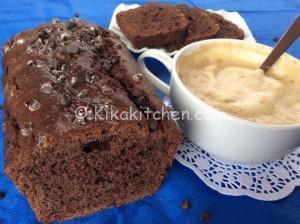 Plumcake al cioccolato soffice con gocce di cioccolato