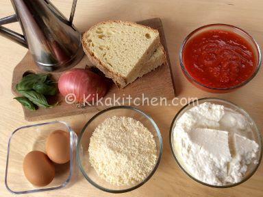 ingredienti polpette di ricotta