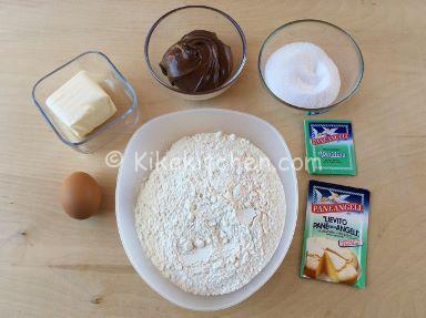 ingredienti rotolo di pasta frolla alla nutella