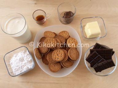 ingredienti torta fredda cioccolato e panna