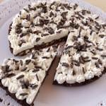 Torta fredda cioccolato e panna. Ricetta passo passo