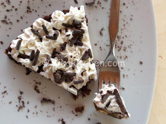 torta senza cottura cioccolato e panna