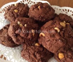 Cookies cioccolato e nocciole. Ricetta passo passo
