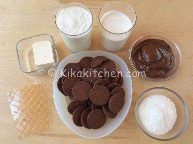 ingredienti cheesecake cocco e nutella
