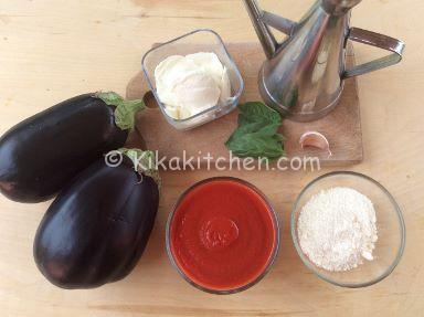 ingredienti parmigiana al forno di melanzane monoporzione