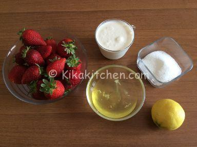 ingredienti semifreddo alle fragole