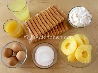 ingredienti tiramisù all'ananas