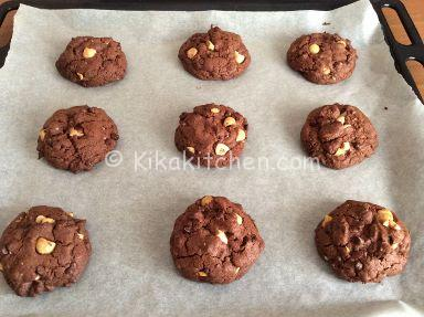 ricetta cookies cioccolato e nocciole