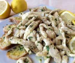 Straccetti di pollo al limone. Ricetta facile e veloce