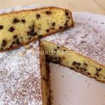 Torta con gocce di cioccolato (torta stracciatella)