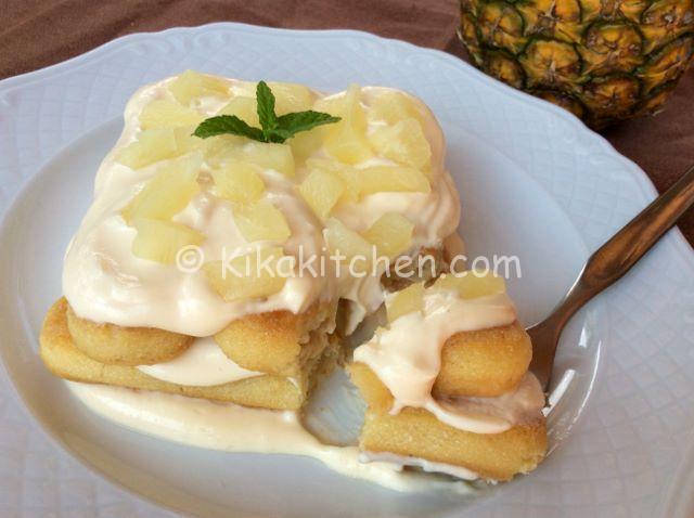 tiramisù all'ananas fresco