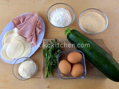 ingredienti cordon bleu di zucchine