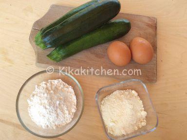 ingredienti frittelle di zucchine